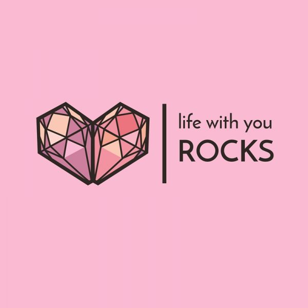 Life with you rocks graphic